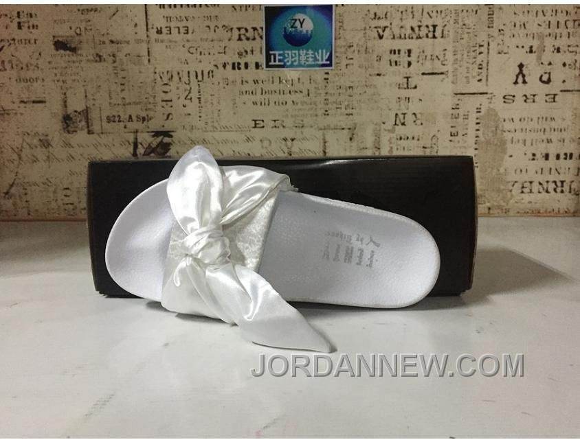 b2174fd8d3990a Buy Puma X Fenty Bandana Slide ButterFly White Women Sandals Cheap To Buy  from Reliable Puma X Fenty Bandana Slide ButterFly White Women Sandals  Cheap To ...