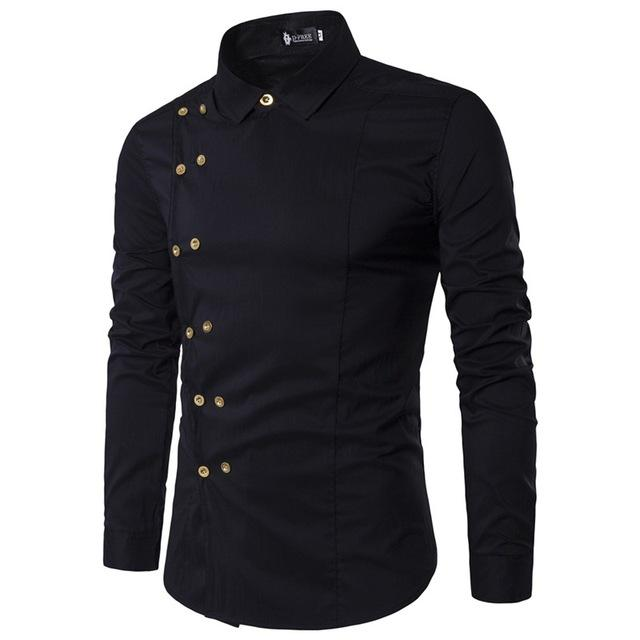 daf55e59e2b0 Item Type: Shirts Gender: Men Sleeve Length(cm): Full Pattern Type: Solid  Model Number: 17DC42 Shirts Type: Casual Shirts Style: Casual Brand Name:  TUNEVUSE ...
