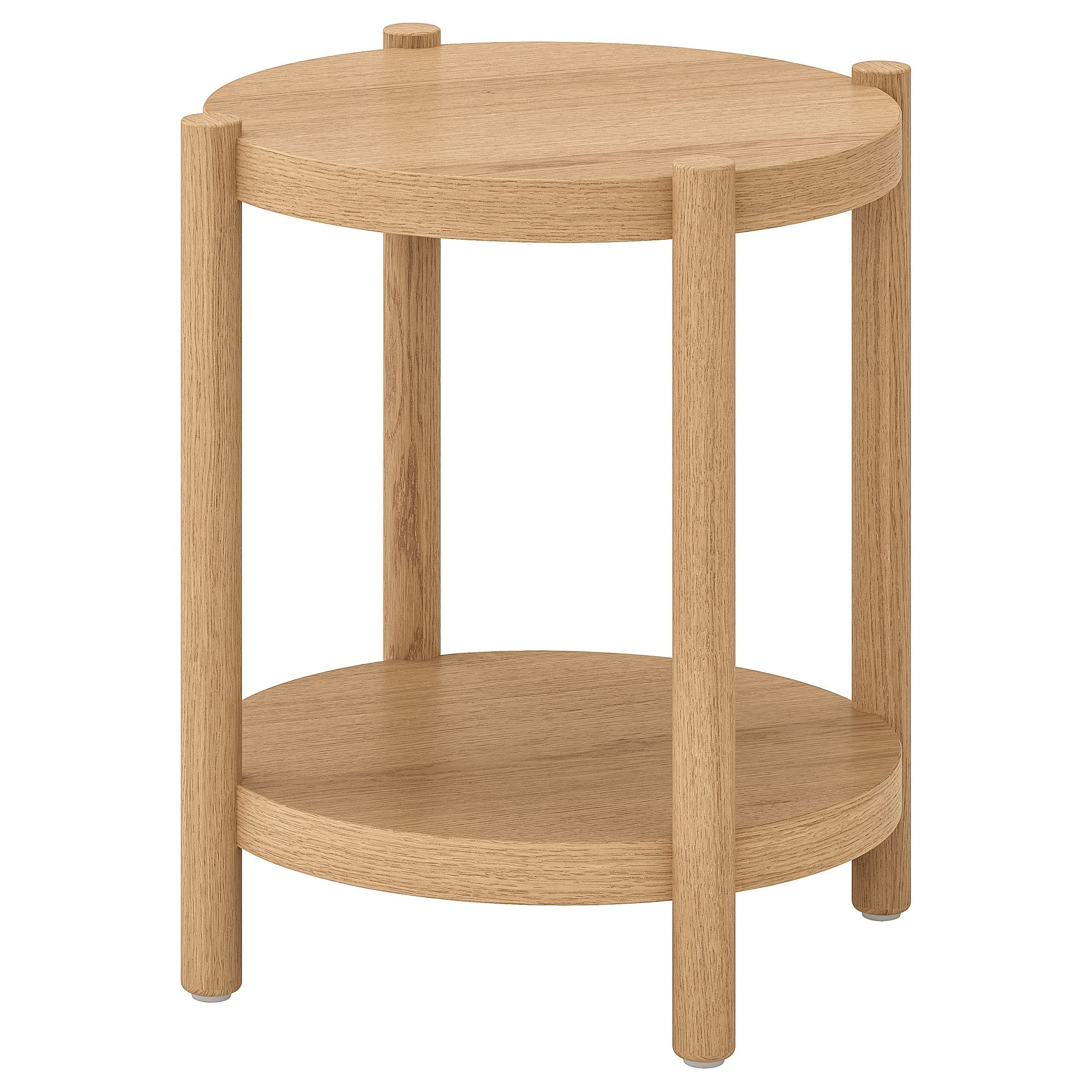 Listerby Table D Appoint Teinte Blanc Chene 50 Cm Table D Appoint Mobilier De Salon Table D Appoint Ikea