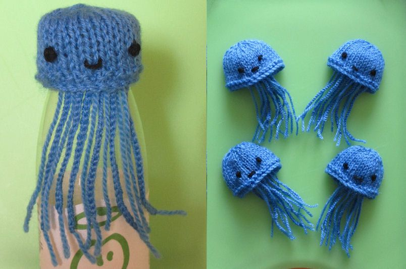Innocent Smoothies Big Knit Hat Patterns Jellyfish | yarn wig ...