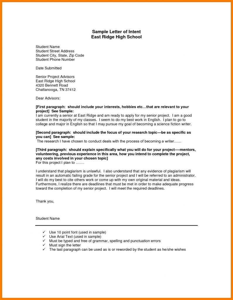 Formal Letter Format For School Application To Principal