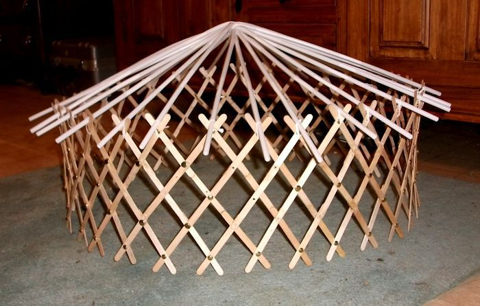 Build a model yurt practice lessons for building the real thing page a tutorial on building a diy mongolian yurt solutioingenieria Images