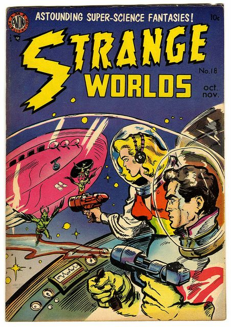 MAGAZINE COVER 1951 WEIRD SCIENCE SCI FI ATOMIC WAR SPACE FRAMED PRINT B12X10745
