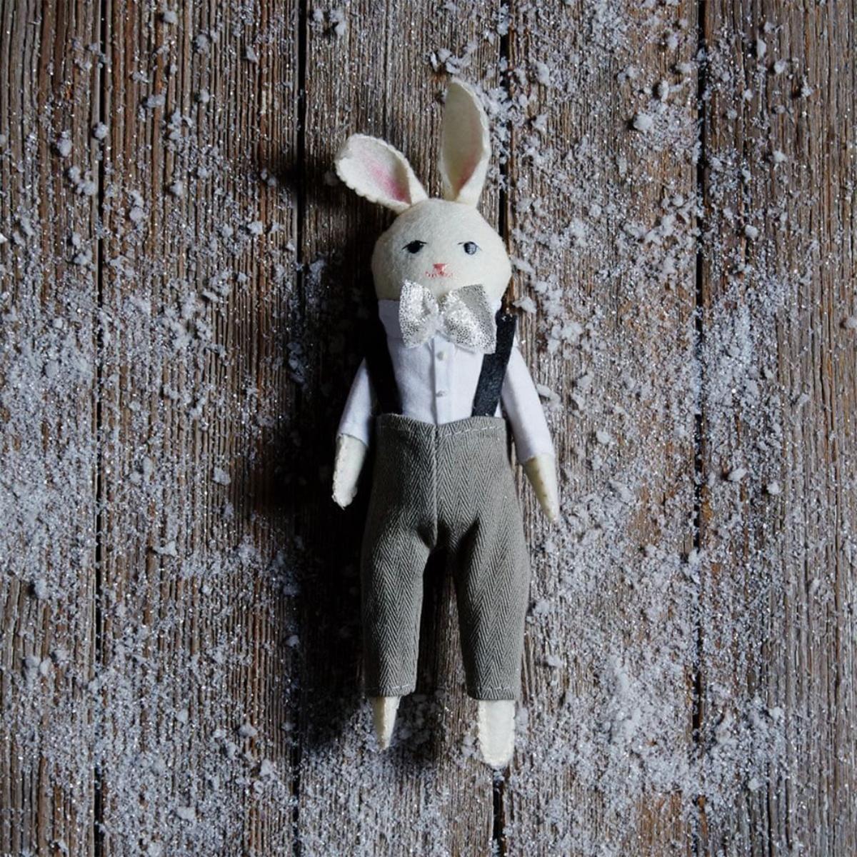 Erika Barratt Rabbit Ornament - Fancy Boy