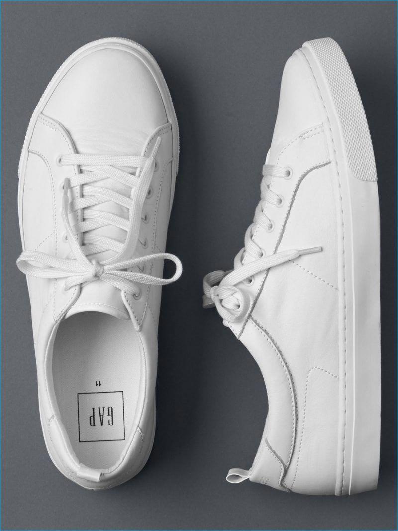 promo code 811de 906db Gap White Leather Sneakers  Sneakers
