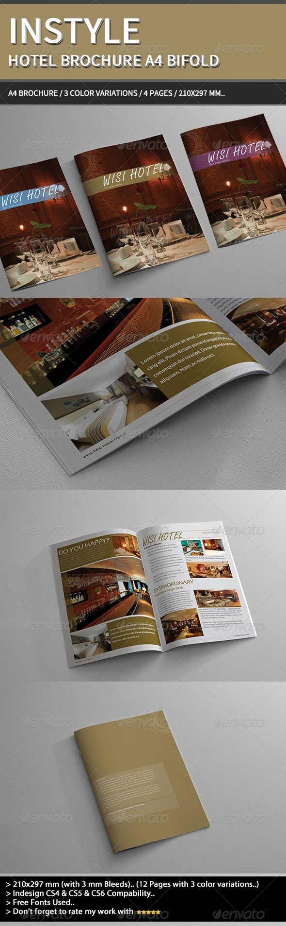 InStyle Hotel Brochure A4 | Hotel brochure, Brochures and Brochure ...