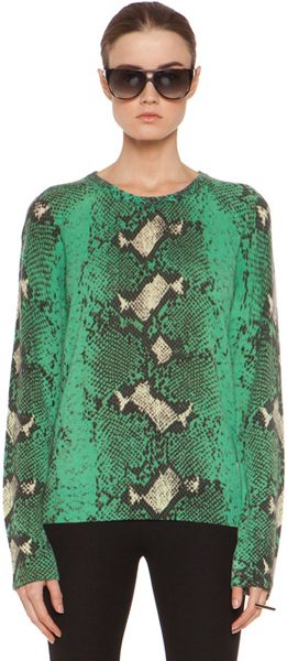 Python Crew Neck Sweater - Lyst