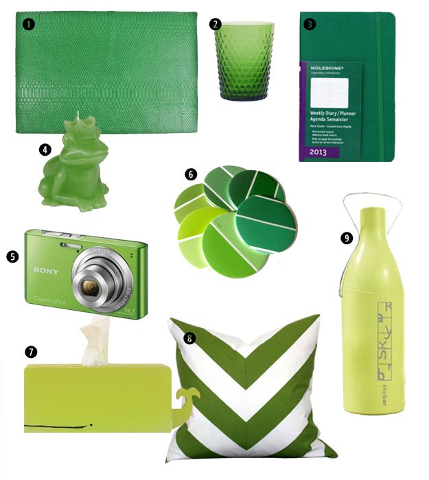 Color Pantone 2013: Verde Esmeralda. Agrega color a tu casa con estos accesorios #verde #decoracion #chevron #pantone #blog www.interior-101.com / Pantone Color of the Year: Emerald Green.