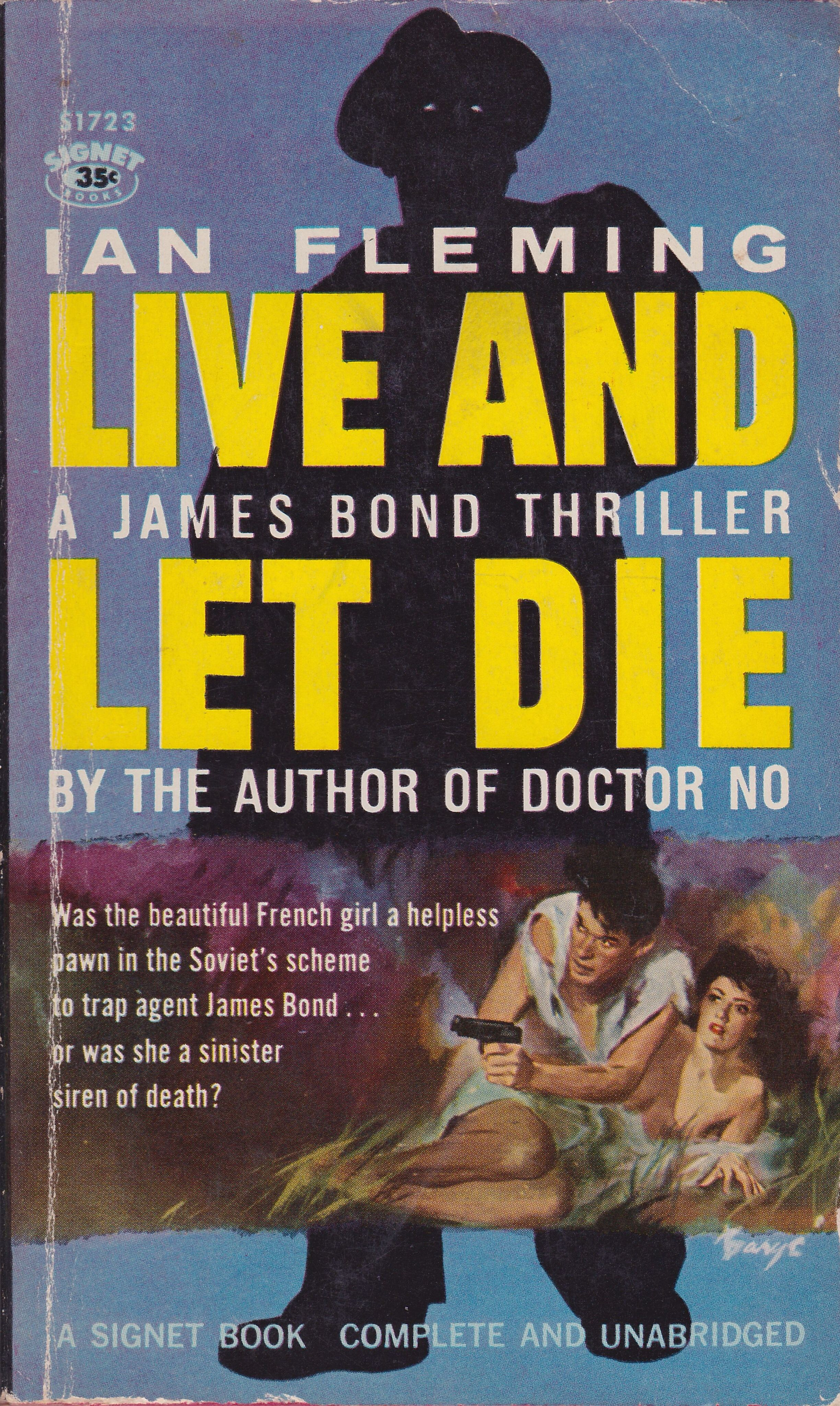 Ian Fleming Live And Let Die Signet Books 1959 Cover Art By
