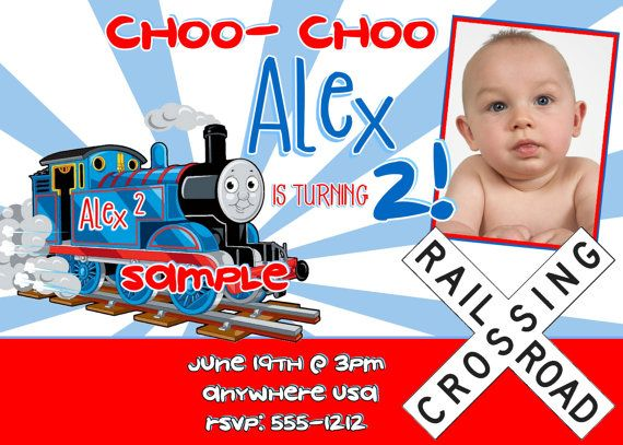 Thomas The Train Birthday Invitations Digital Printable One Hour