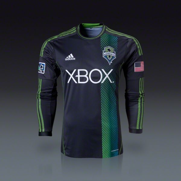 new styles 10610 b7f73 adidas Seattle Sounders FC Authentic Long Sleeve Away Jersey 2013    SOCCER .COM