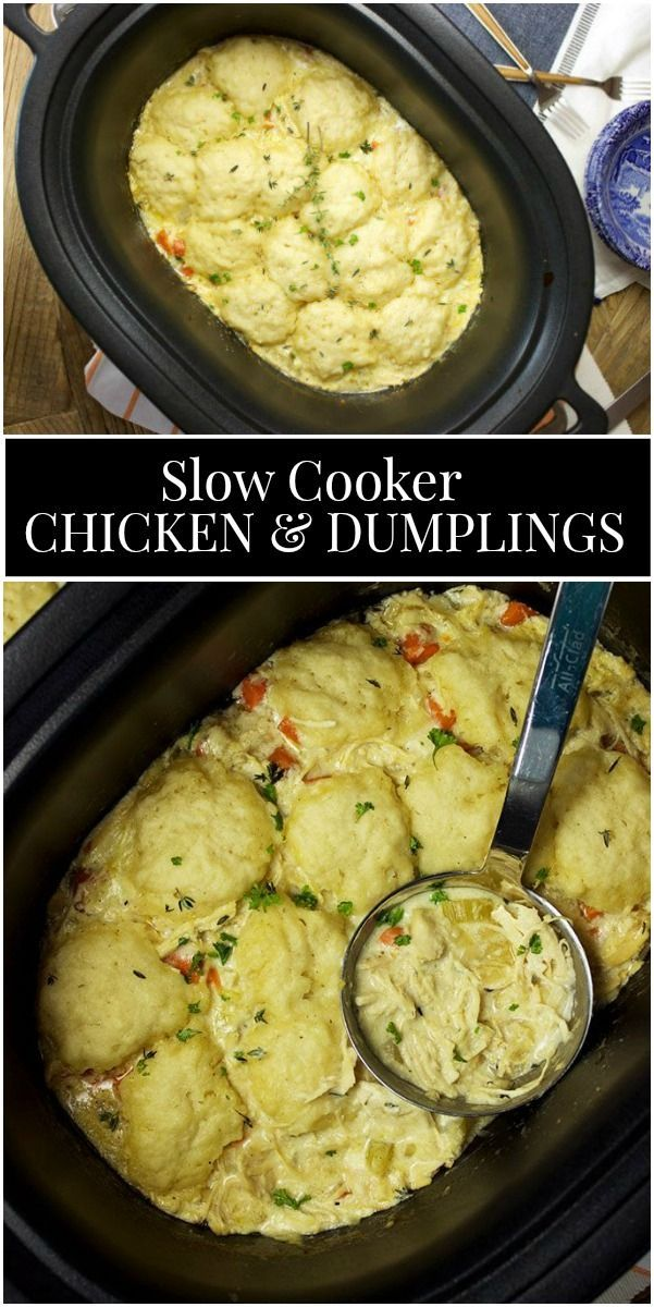Slow Cooker Chicken and Dumplings -  #chicken #cooker #dumplings #Slow #chickendumplingscrockpot