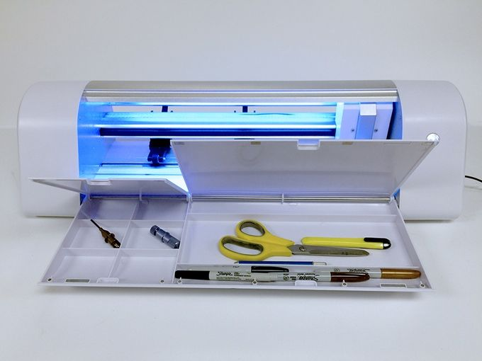 Fold Down Table Offers Compartment Style Organization Knk Force Die Cutter Craft Cutter Rotary Tool Die Cutting