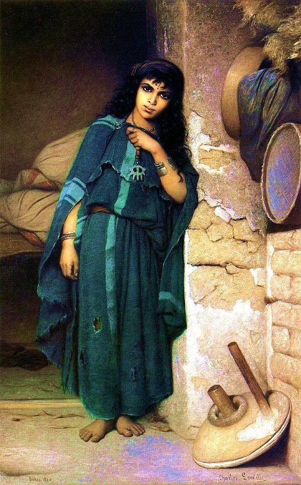 Alg rie peintre fran ais charles zacharie landelle 1821 for Peinture satinee algerie prix