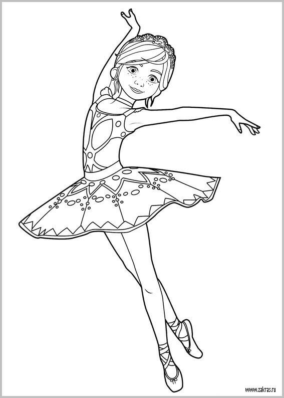 Ballerina Coloring Page | Dance coloring pages, Ballerina ...