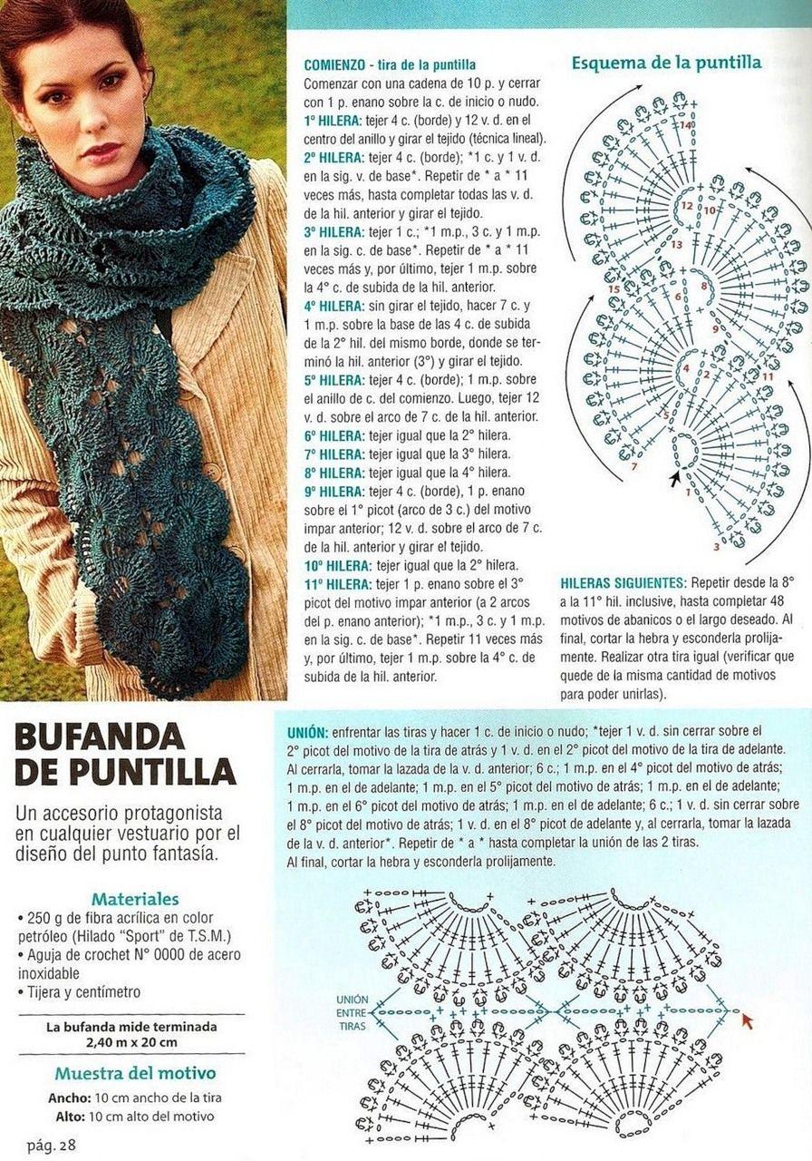 шарфы вязаные крючком схемы и описание фото что
