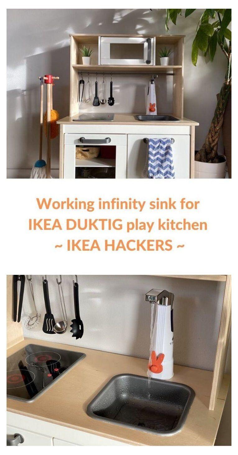 Look Ma A Working Sink On My Duktig Play Kitchen Ikea Play Kitchen Hack Montessori Ikeaplaykitchenhackm Ikea Play Kitchen Play Kitchen Ikea Kids Kitchen