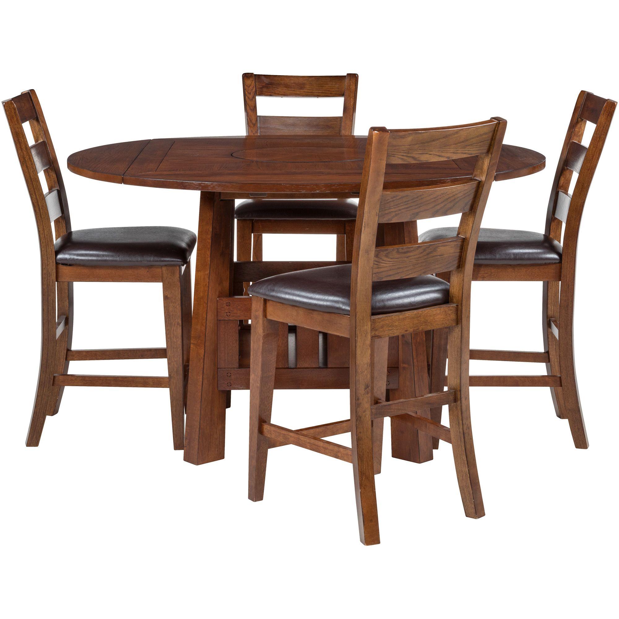 Brook Medium Oak 5 Piece Counter Dining Set Counter Height Dining Sets Dining Table Sale Dining Set