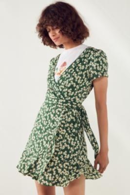 e315a03b0a81 Kimchi Blue Rita Green Floral Wrap Dress | Shop | Wrap dress floral ...