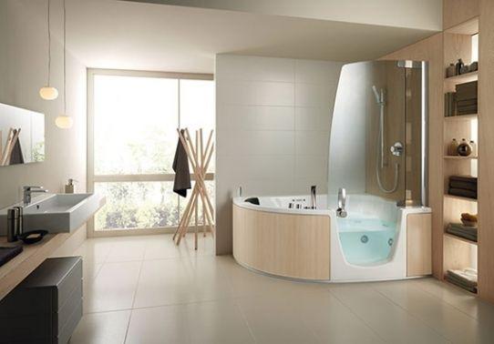 23 Awesome And Unusual Corner Whirlpool Shower Ideas Freshouz