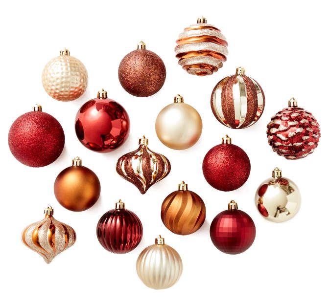rustic shatterproof ornament set 60 pack at big lots - Big Lots Christmas Eve Hours