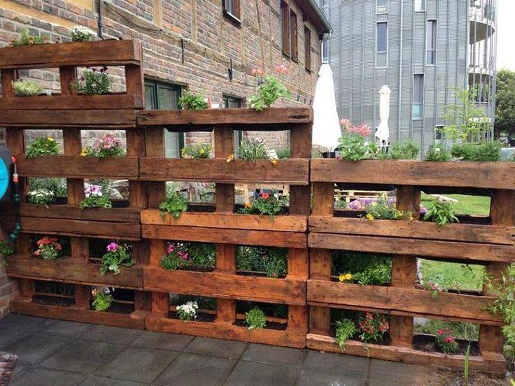 Ideen mit Paletten für kreative und erstaunliche Gärten - Dekoration ideen #palettenideen
