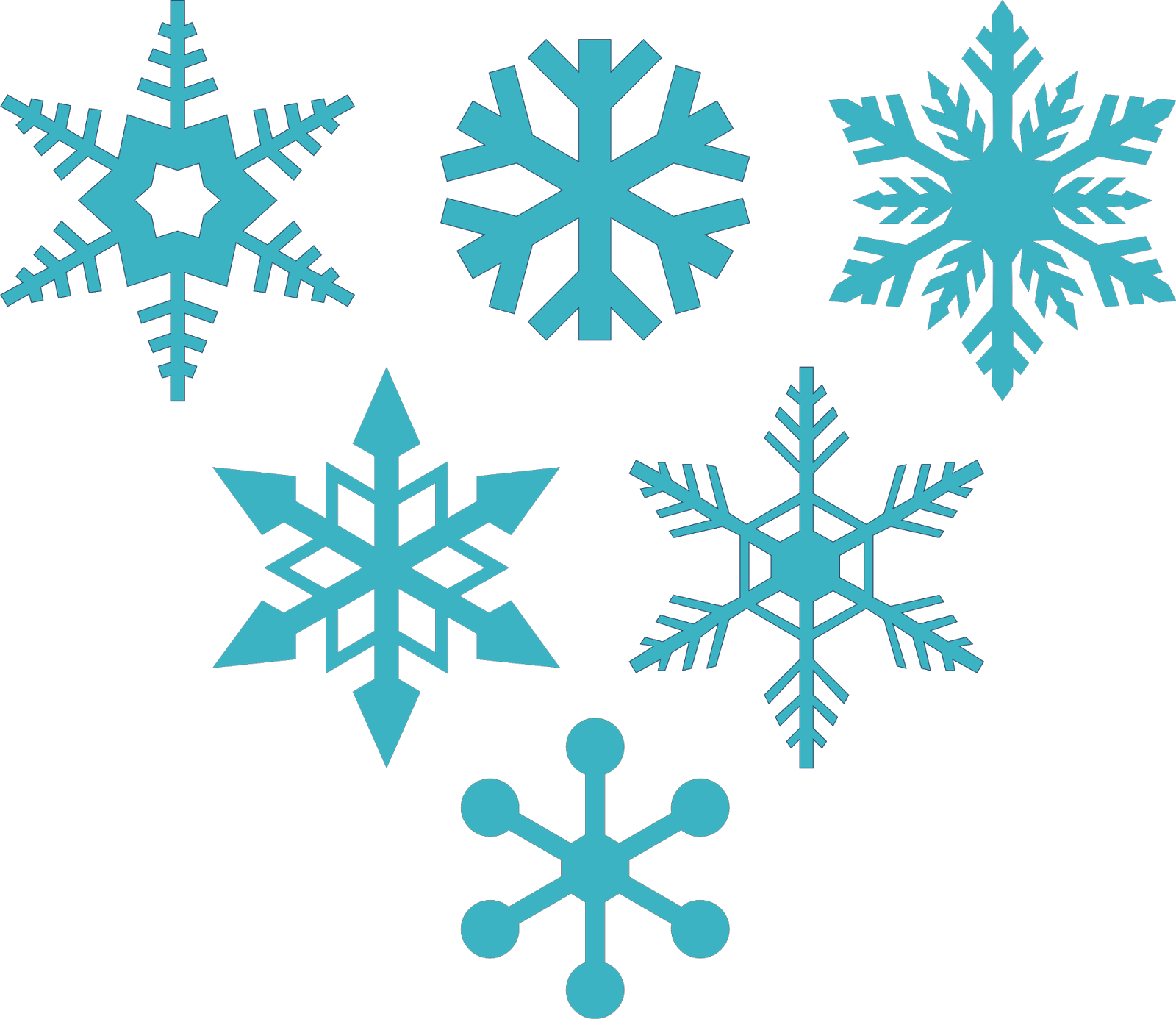 6 free snowflakes Snowflake silhouette, Christmas svg