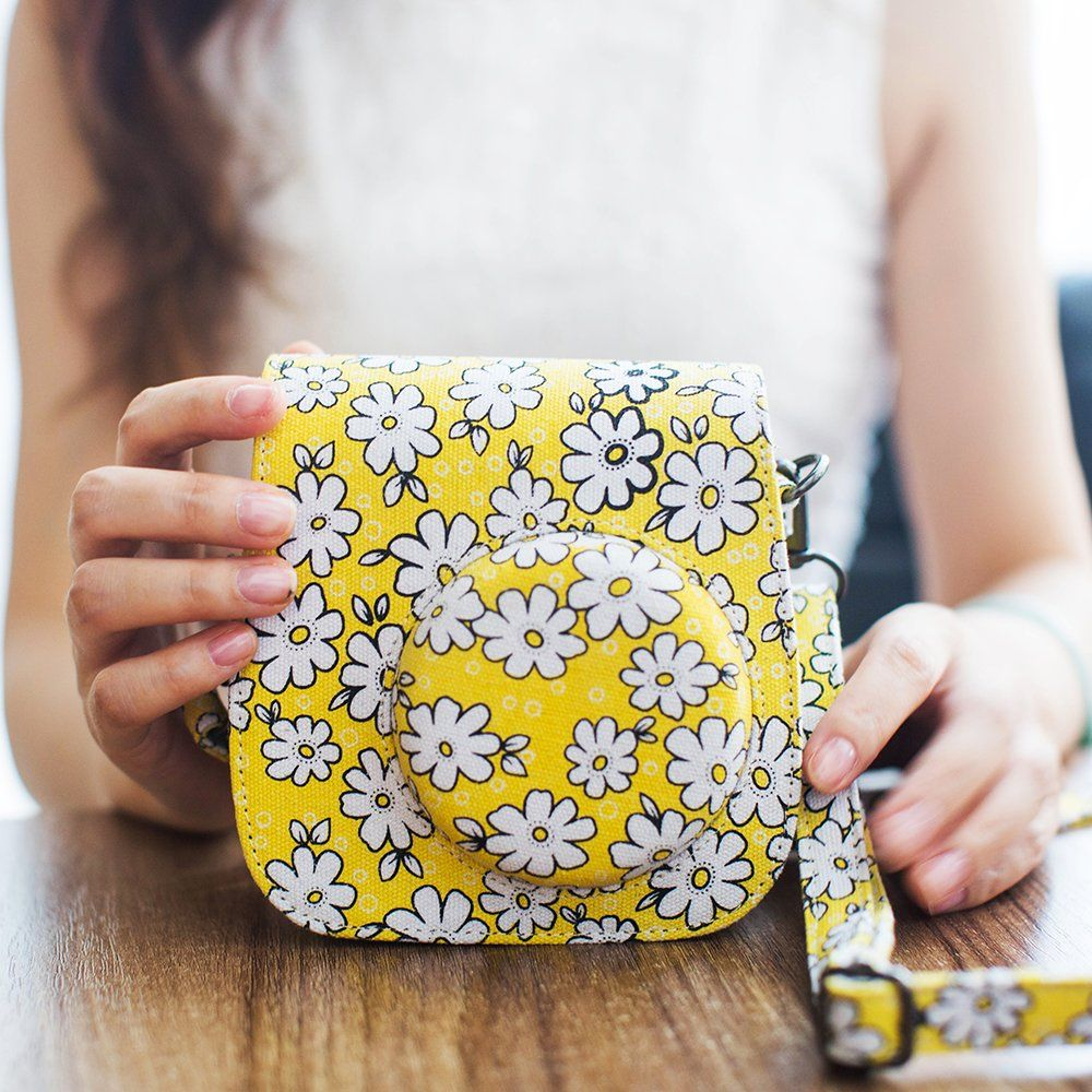 Amazon Com Mudder Lovely Flower Denim Fabric Camera Bag Case