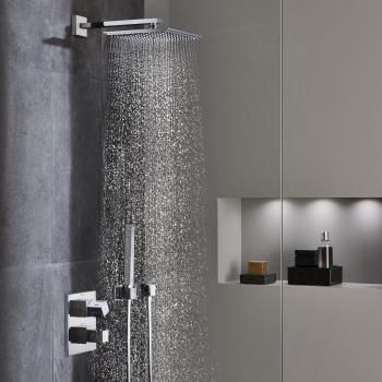 grohe grohtherm cube duschsystem unterputz mit rainshower. Black Bedroom Furniture Sets. Home Design Ideas