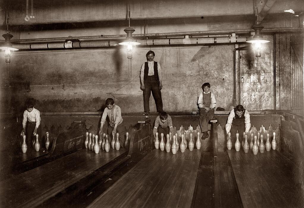 Going Bowling, Brooklyn, NY c.1910