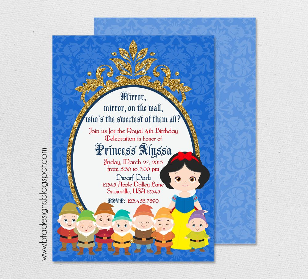 SNOW WHITE /& THE 7 DWARFS YOU ARE THE FAIREST BIRTHDAY GREETING CARD