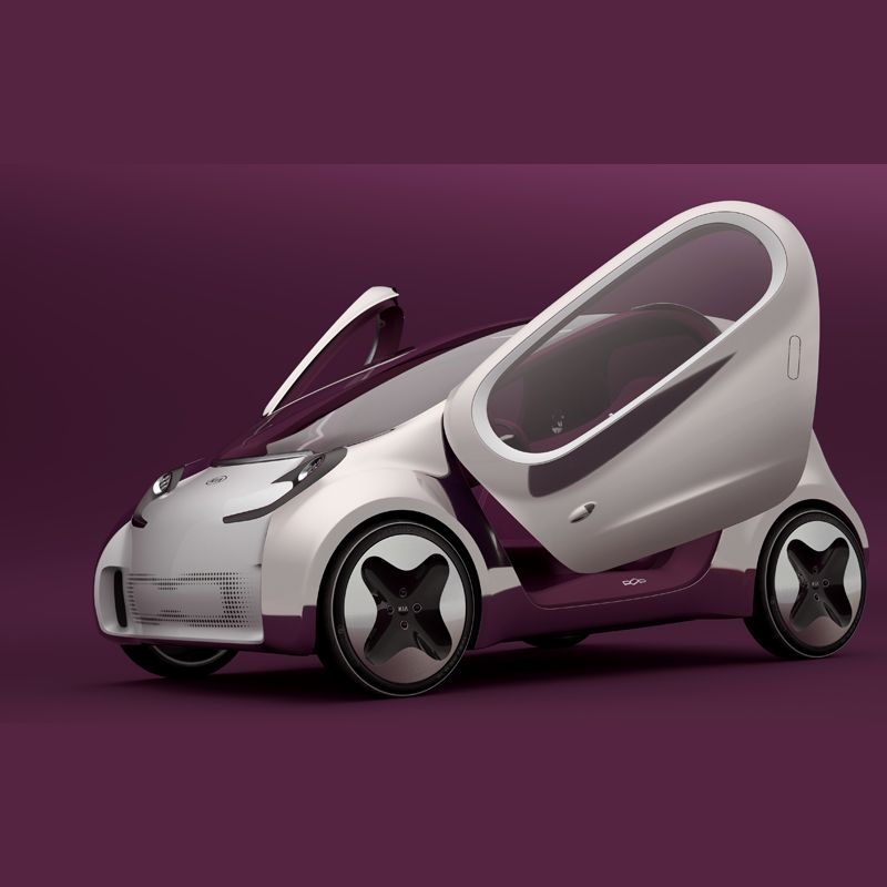 Kia Car Wallpaper: Kia Pop -Electric Concept Car