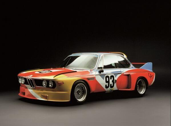 #BMW 3.0 #CSL disegnata da #Calder 1975