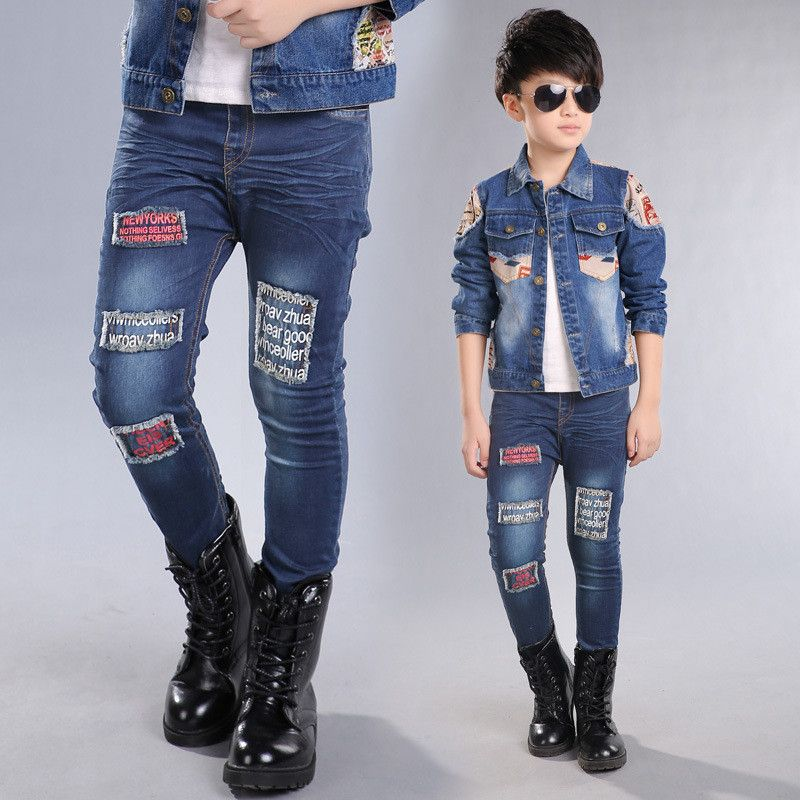 68e330ebf53b 2017 New Boys Pant Jeans Fashion Boys Jeans For Spring Autumn Kids Denim  Trousers Children Dark