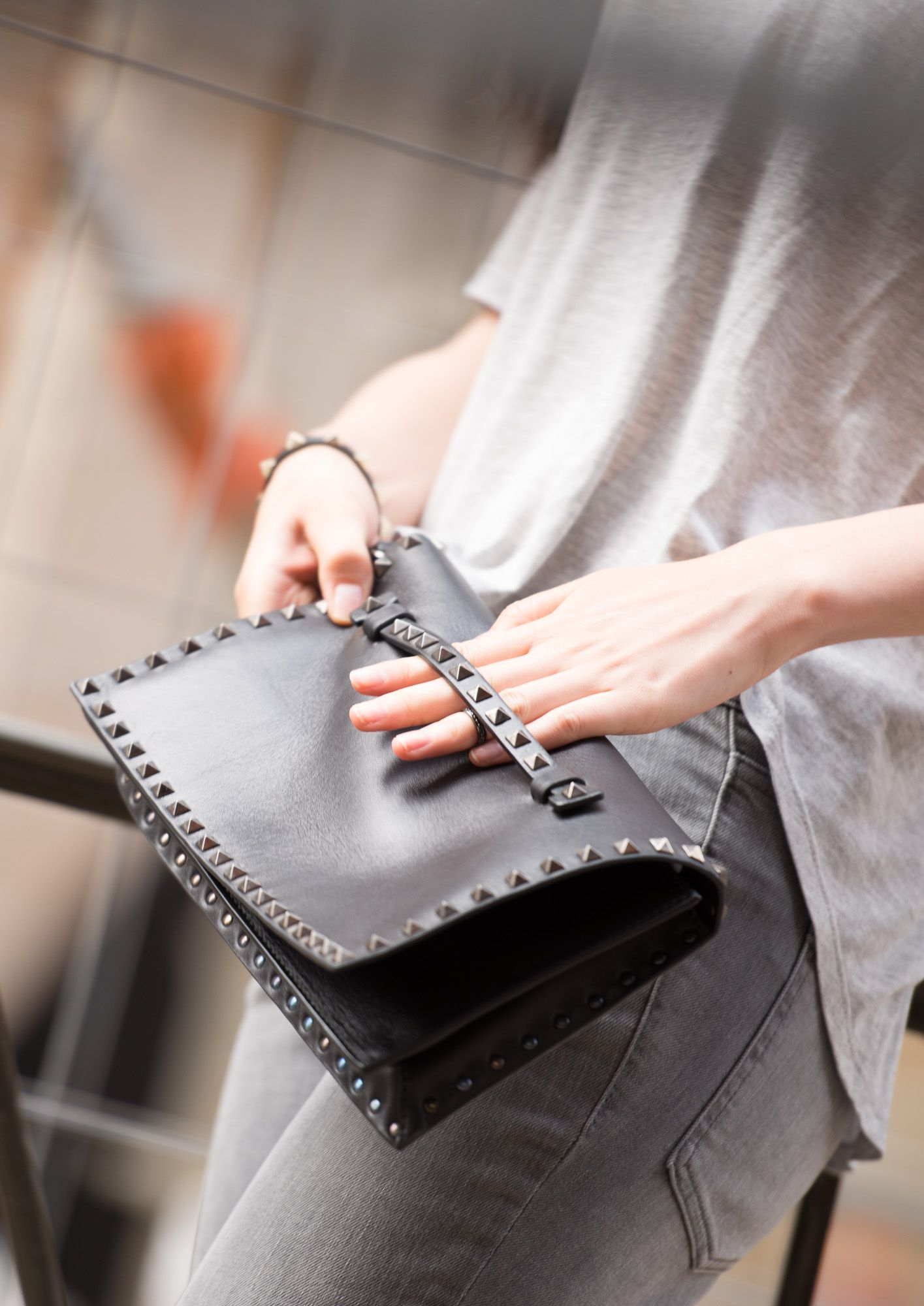 Blackstud Clutch Valentino