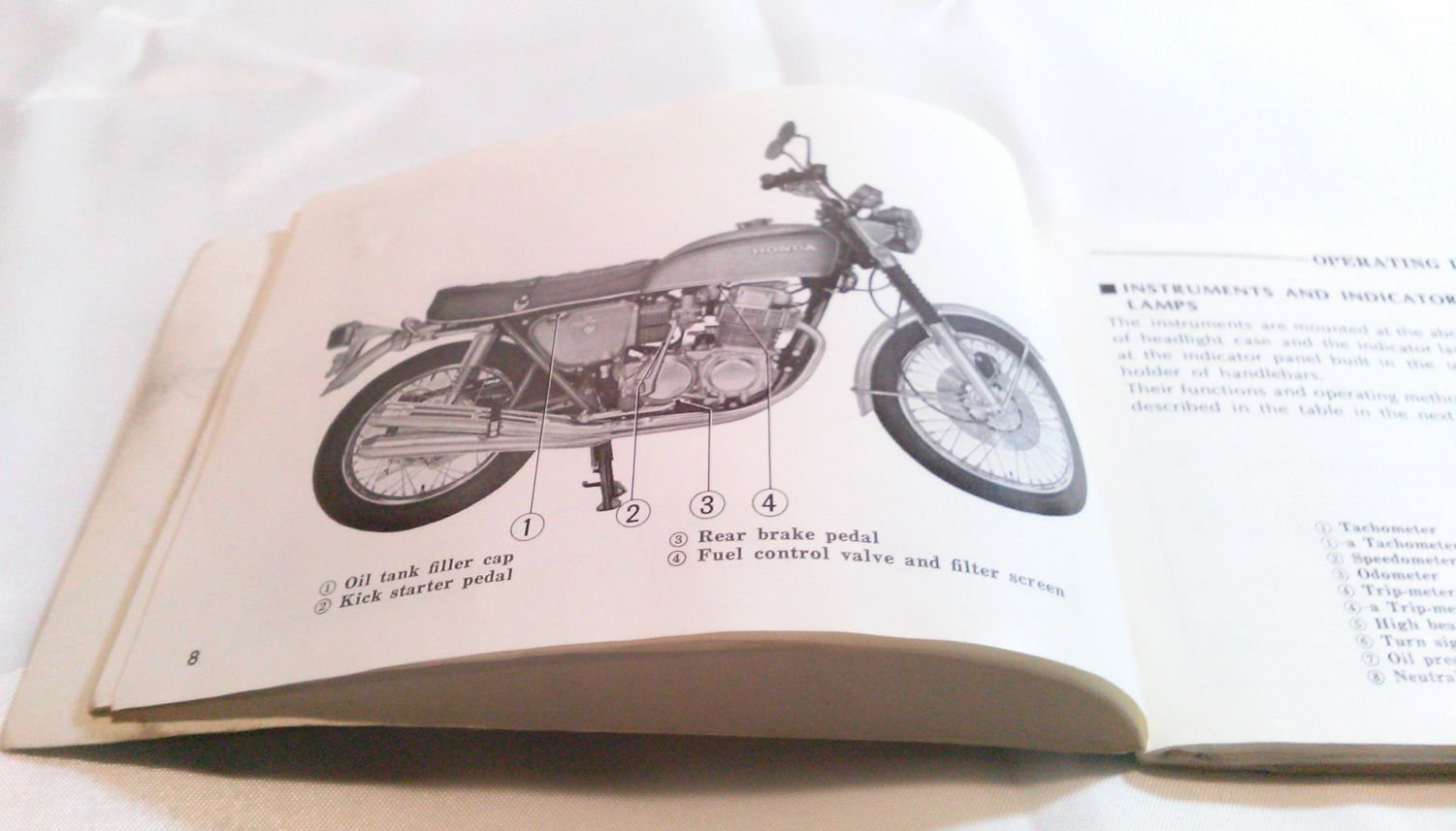 Motorcycle Honda Cb 750 Cb750 Owners Manual 3 Fold Out Wiring Schematic Diagrams Charts