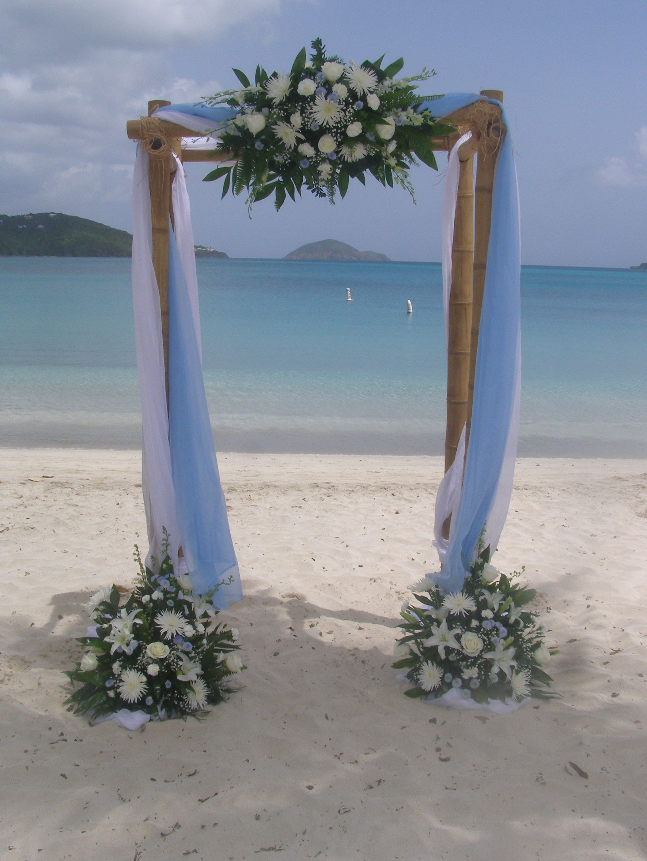 Beach wedding flowers site decor st thomas destination beach wedding flowers site decor st thomas destination packages keyas exquisite touch junglespirit Images