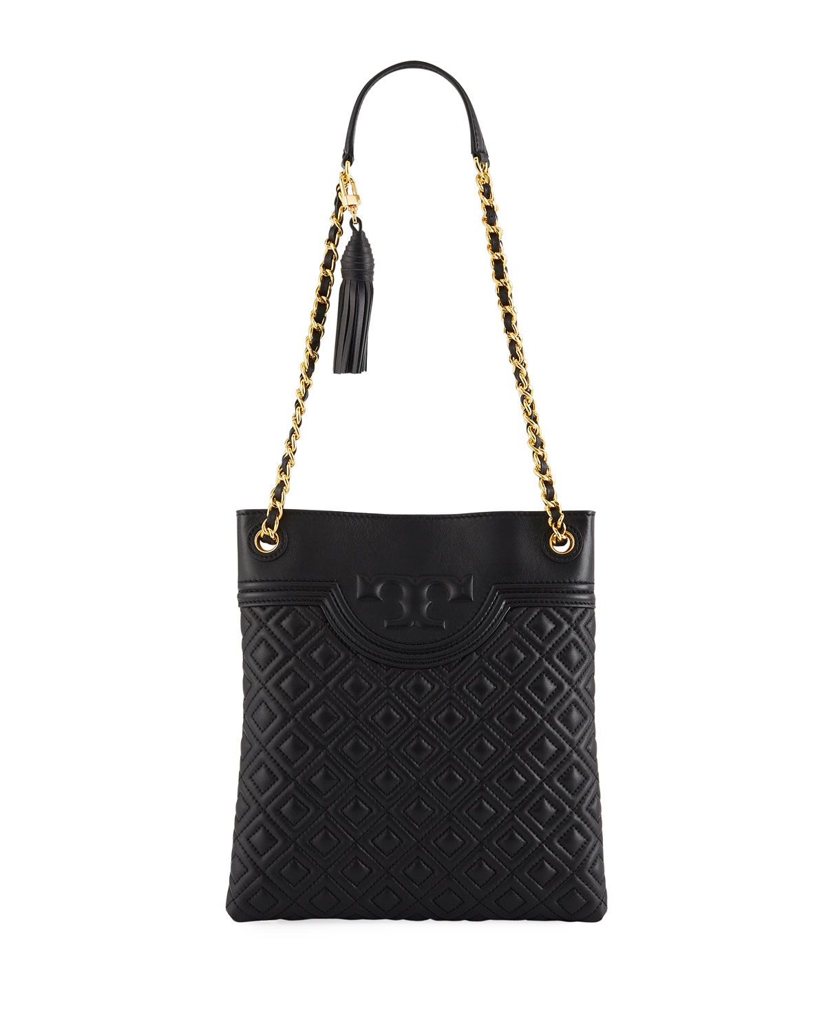 3ff64d57cd1 Tory Burch Fleming Diamond-Quilted Swing-Pack Tote Bag - Brass Hardware |  Tory