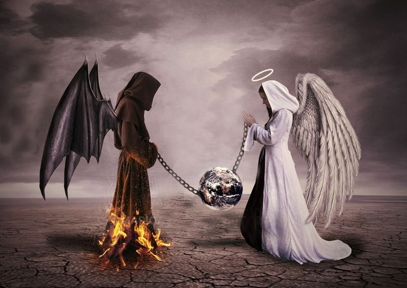 good angel and bad angel