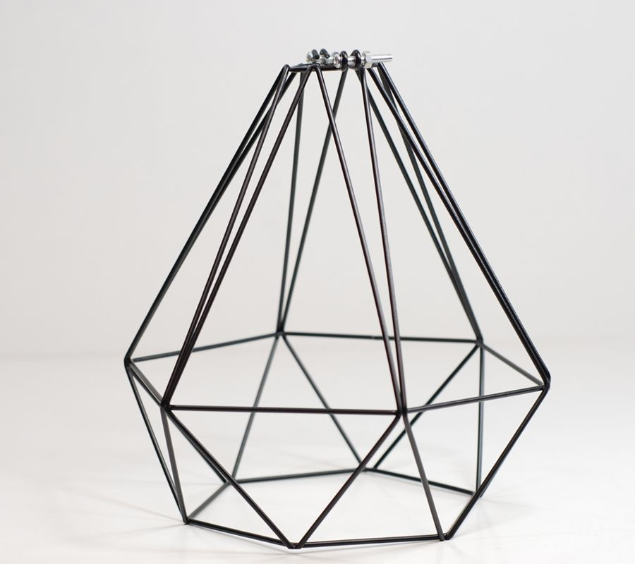 Wire light shades wire center diamond pendant wire lightbulb cage black cage light shade rh pinterest com wire lamp shades nz greentooth Choice Image