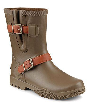 Love this Khaki Nellie Lou Rain Boot - Women on #zulily! #zulilyfinds