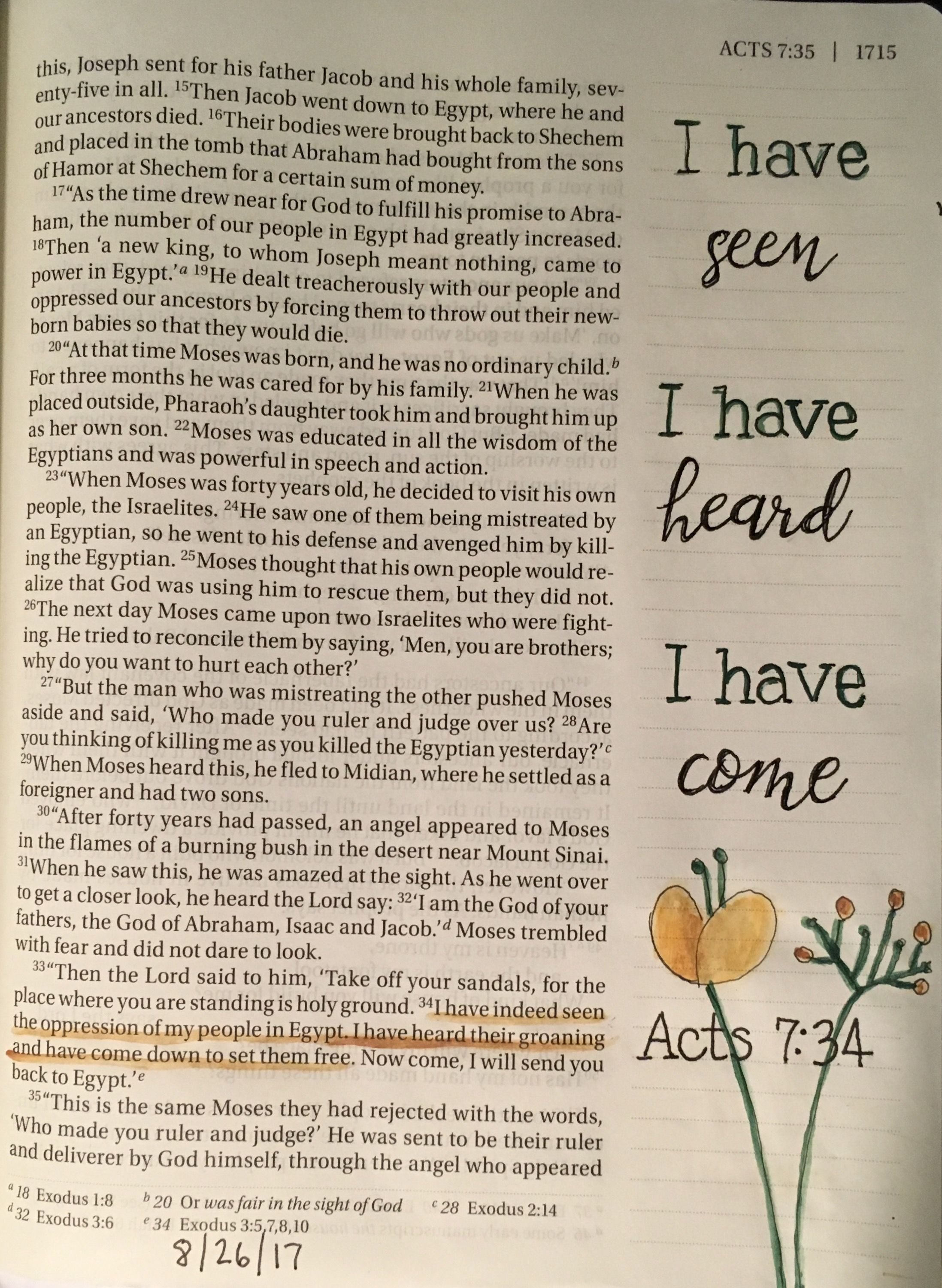 Continuing With My Artistic Theme In Acts Here Is Acts724 Stephen Recounting All That God Had Done For Israel I HAVE Indeed SEEN The Oppression Of