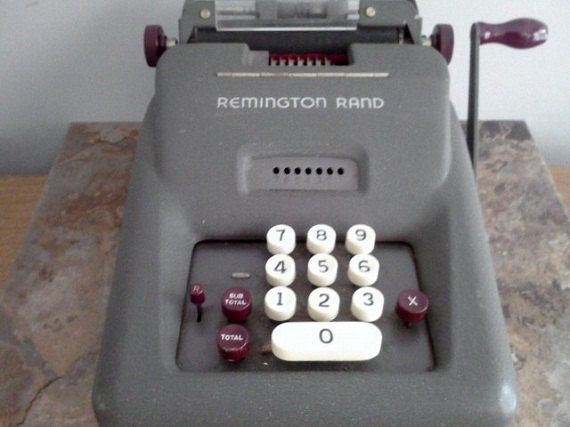 Remington rand printing calculator model 99 youtube.