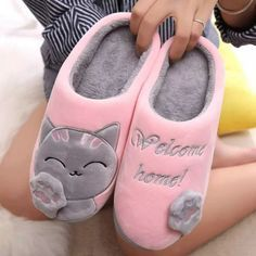 Photo of US $3.65 43% OFF|PUIMENTIUA Women Winter Home Slippers Cartoon Cat Shoes Non slip Soft Winter Warm House Slippers Indoor Bedroom Lovers Couples|Slippers|   – AliExpress