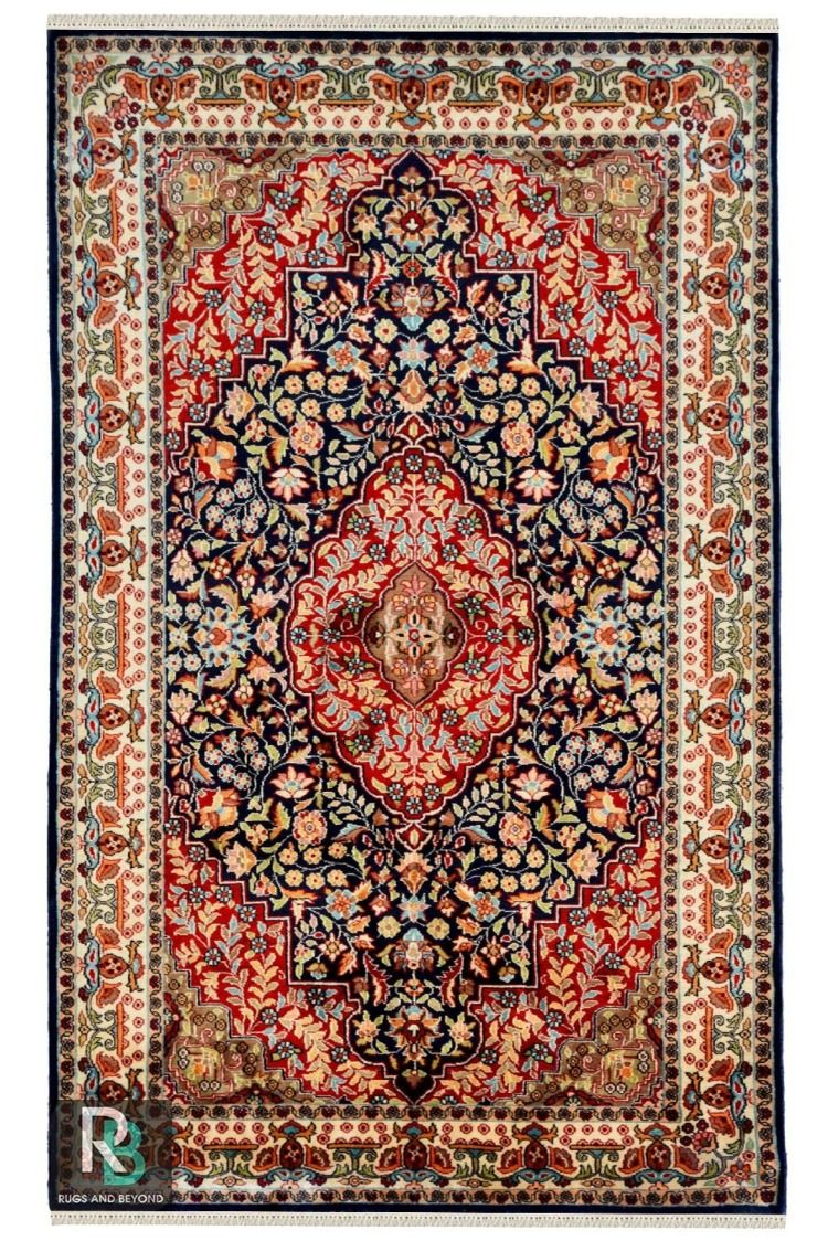 Shop Pearl Kashan Silk Carpets Online With Excellent Quality Rugs Silk Area Rugs Silk Carpet