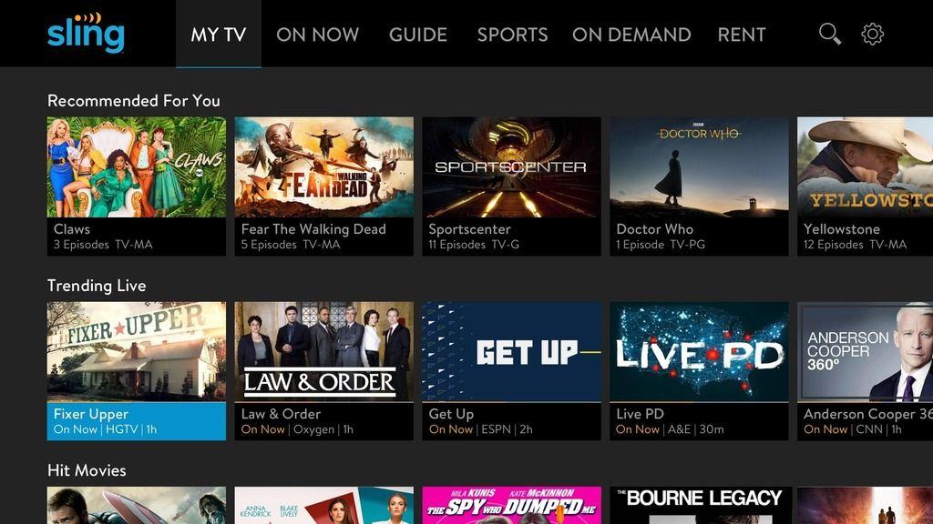 Sling Tv Updates Roku App To Highlight Trending Live Shows On Home Screen Sling Tv Roku Live Show