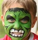 Superhero Face Painting Ideas - Hulk