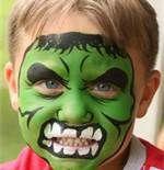 Superhero Face Painting Ideas - Hulk