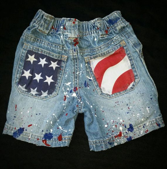d80c190597 Pictured is a size 18M American Summer Denim by DivineKidz on Etsy #etsy  #summer #flag #july4th #usa #patriotic #shorts