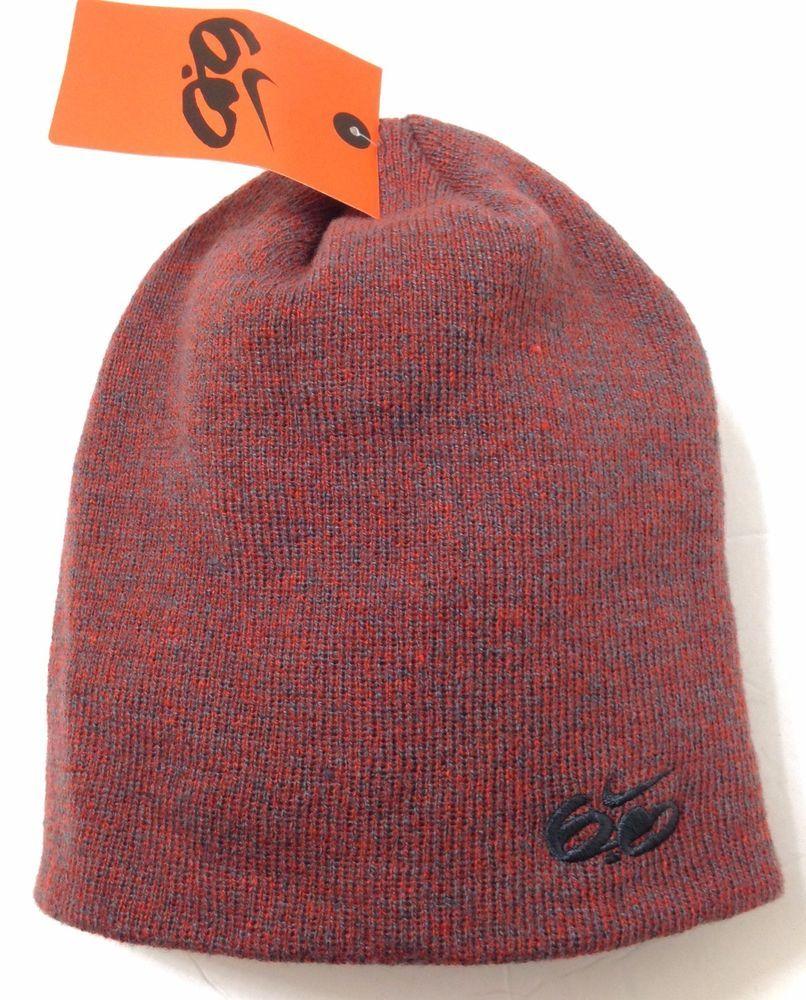 NIKE 6.0 BEANIE Orange-ish-Red Gray-Heather Winter Knit Ski Skull Hat Men  Women  Nike  Beanie 97dc29a18